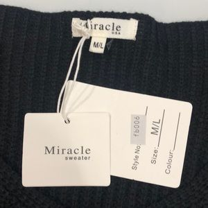 Miracle USA Sweaters - NWT Black Knit Sweater